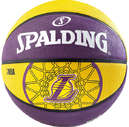 SPALDING NBA LAKERS BASKETBAL GEEL/PAARS