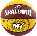 SPALDING NBA MIAMI HEAT BASKETBAL roodbruin/geel